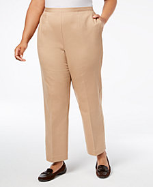 Alfred Dunner Plus Size High-Rise Trousers, Regular and Short Inseam