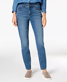 Style & Co Petite Curvy-Fit Tummy Control Skinny Jeans, Created for Macy's