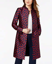 Anne Klein Printed Jacquard Jacket