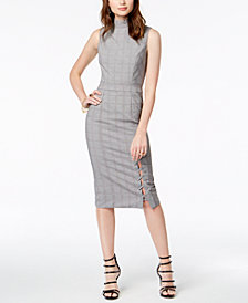 XOXO Juniors' Lace-Up Midi Dress