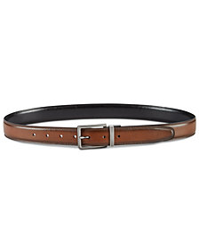 Perry Ellis Men's Classic Reversible Leather Belt