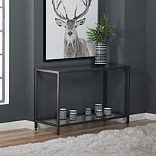 Camber Glass Console Table