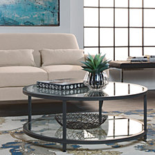 Camber Round Glass Coffee Table