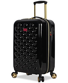 "Betsey Johnson Heart To Heart 20"" Hardside Expandable Carry-On Spinner Suitcase"