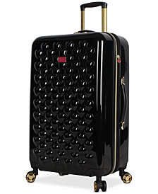 "Betsey Johnson Heart To Heart 26"" Hardside Expandable Spinner Suitcase"