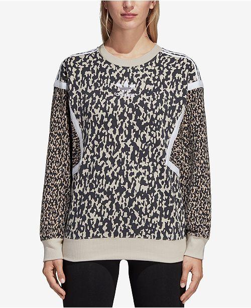 Women Printed Tops Sweatshirt Adidas Macy's Leoflage nfqA77