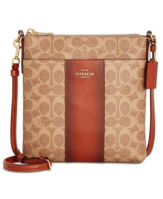 coach messenger mini signature crossbody handbags accessories rh macys com