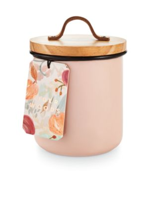 CLOSEOUT! Harvest Enameled Metal Candle