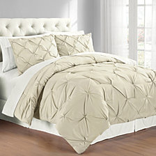 Premium Collection Full/Queen Pintuck Bedding Comforter Set
