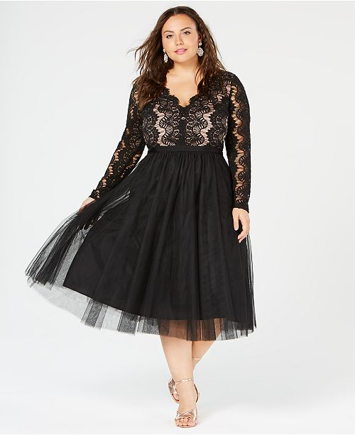 154eb333041 City Chic Trendy Plus Size Rare Beauty Lace   Tulle Dress   Reviews ...