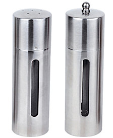 BergHOFF Straight Stainless Steel Salt & Pepper Mill Set
