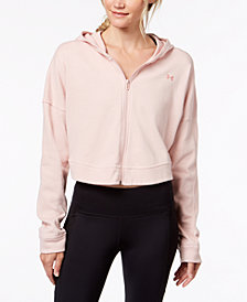 Under Armour Favorite Terry Cropped Zip Hoodie