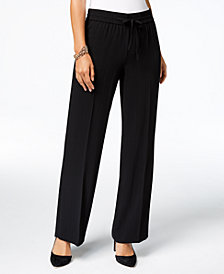 I.N.C. Shadow-Stripe Wide-Leg Pants, Created for Macy's