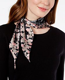 Echo Tiled Together Silk Diamond Bandana Scarf