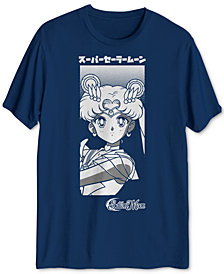 Men's Sailor Moon and Luna Graphic T-Shirt