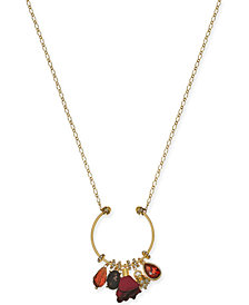 "I.N.C. Gold-Tone Multi-Charm Pendant Necklace, 28"" + 3"" extender, Created for Macy's"