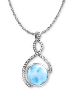 Marahlago Larimar & White Sapphire (1/4 ct. t.w.) 21