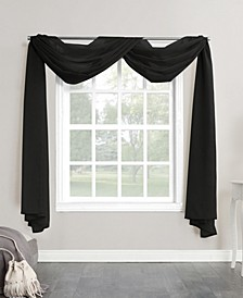 "No. 918 Sheer Voile 59"" X 216"" Window Curtain Scarf"