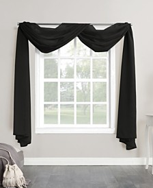 "Lichtenberg No. 918 Sheer Voile 59"" X 216"" Window Curtain Scarf"
