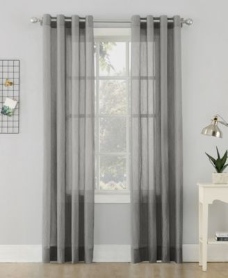 "Lichtenberg No. 918 Crushed Sheer Voile 51"" X 95""Grommet Curtain Panel"