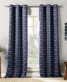 Sun Zero Saki Shibori Print Blackout Grommet Curtain Panel Collection