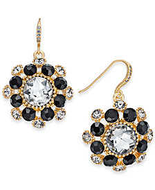 Charter Club Gold-Tone Crystal & Stone Cluster Drop Earrings, Created for Macy's