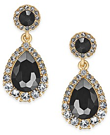 Gold-Tone Crystal & Stone Drop Earrings, Created for Macy's