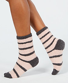 Charter Club Metallic Striped Fuzzy Cozy Plush Socks, Created for Macy's