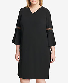 Jessica Howard Plus Size Lace-Trim Sheath Dress