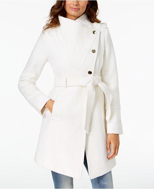GUESS Asymmetrical Wrap Coat