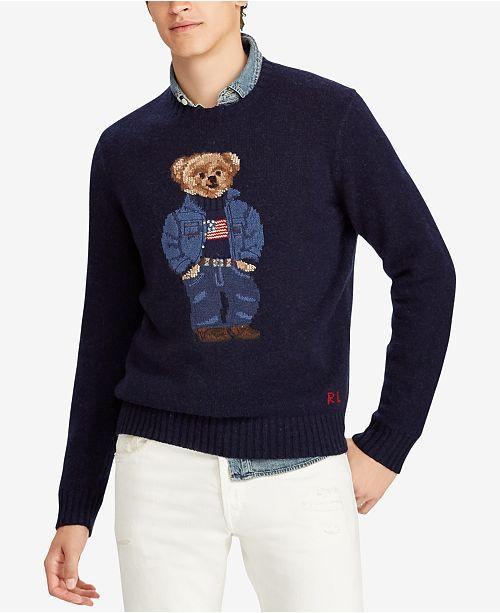 accf083d Polo Ralph Lauren Men's Polo Bear Classic Fit Sweater & Reviews ...