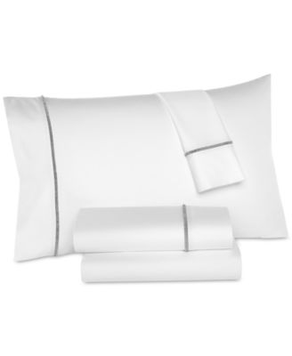 Solid Hem Cotton 325-Thread Count Standard Pillowcases, Set of 2, Created for Macy's