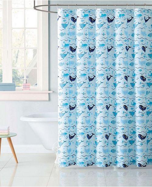 Kids Deep Blue Sea Shower Curtain