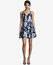 Betsy & Adam Floral-Print Fit & Flare Dress