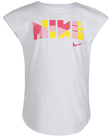 Nike Toddler Girls Geometric Logo Graphic T-Shirt
