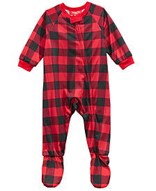 Matching Family Pajamas Infants Fleece Navidad Footed Pajamas, Created for Macy's