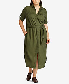 Lauren Ralph Lauren Plus Size Twill Shirtdress