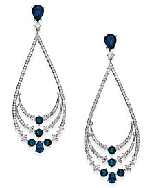 Danori Crystal & Stone Layered Drop Earrings, Created for Macy's