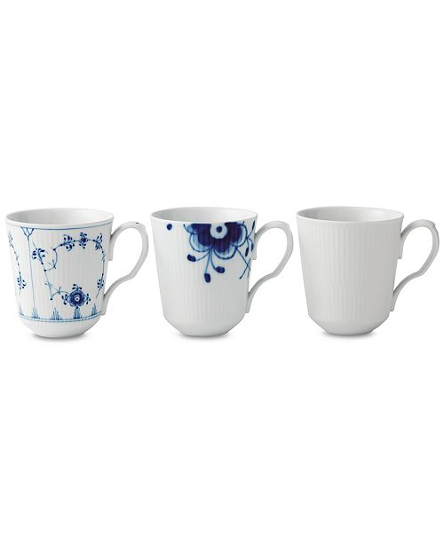 Royal Copenhagen Gifts with History Mugs, Set of 3