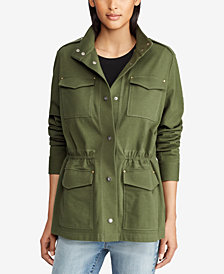 Lauren Ralph Lauren Cotton Military Jacket