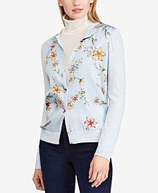 Lauren Ralph Lauren Floral-Print Cardigan