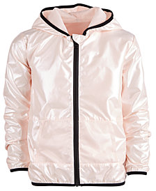 Ideology Big Girls Plus Pearlized Hooded Windbreaker Jacket, Created for Macy's