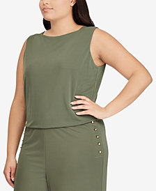 Ralph Lauren Plus Size Wide-Leg Jumpsuit