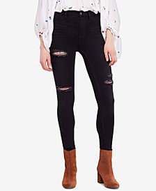 Free People Destroyed Long and Lean Skinny Jeans