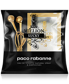 Receive a Complimentary 2-Pc. gift with any large spray purchase from the Paco Rabanne 1 Million Lucky collection