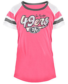 5th & Ocean San Francisco 49ers Pink Foil T-Shirt, Girls (4-16)