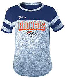 5th & Ocean Denver Broncos Space Dye Glitter T-Shirt, Girls (4-16)