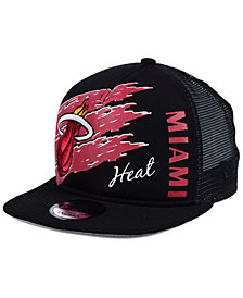 New Era Miami Heat Swipe Trucker 9FIFTY Snapback Cap