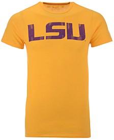 Retro Brand Men's LSU Tigers Alt Logo Dual Blend T-Shirt