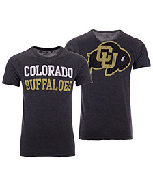 Retro Brand Men's Colorado Buffaloes Team Stacked Dual Blend T-Shirt